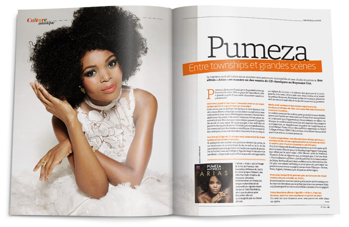 Double-page d'Amina Mag